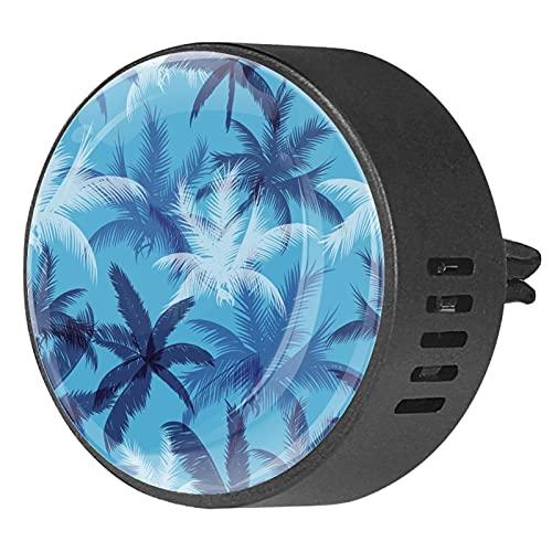 2 piezas difusor de aromaterapia para coche, orquídea, ambientador portátil, clip para ventilación, para coche, sala de estar, oficina (hojas de palma tropicales)