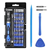 Syntus Precision Screwdriver Set, 63 in 1 with 57 Bit Magnetic Screwdriver Kit Electronics Repair Tool Kit for iPhone, Tablet, Macbook, Xbox, Cellphone, PC, Game Console, Blue