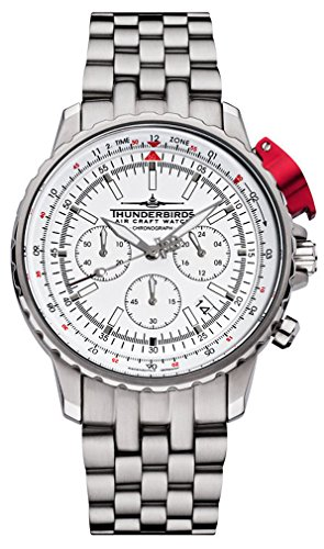 -Thunderbirds Watches -FightingSteelPro White 1052/02-02-S52