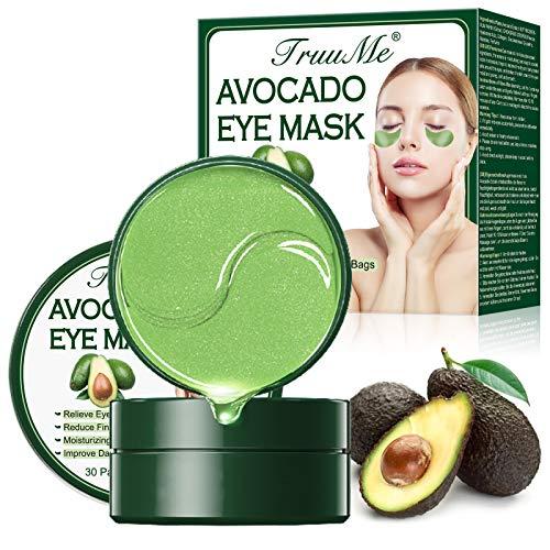Eye Mask, Patch Yeux, Mask Yeux, Masque pour les Yeux au Collagène, Tampons Anti-âge - Pour hydrater, soulager la fatigue et la peau tendue - Pour les rides, les ridules, les cercles foncés - 60pcs