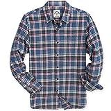 Dubinik - Camicia casual in flanella a maniche lunghe in cotone, vestibilità regolare - - XL