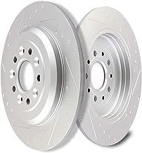 SCITOO Brake Rotors, Slotted Rotors Brake Discs Brake Kit fit Ford Edge/Explorer/Five Hundred/Flex/Freestyle/Taurus,Lincoln MKS/MKT/MKX,Mercury Montego/Sable,Rear