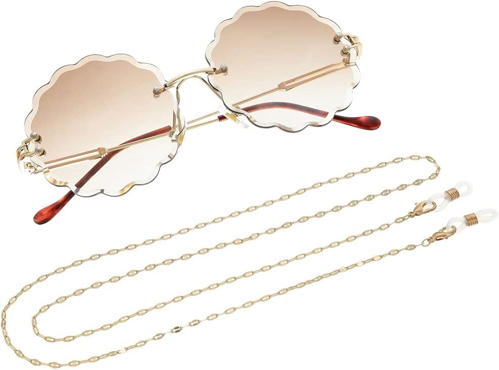 GYZX Glasses Chain for Women Twisted Chain Lanyard Glasses Strap Sunglasses Cords Casual Glasses Accessories (Color : A, Size : Length-70CM)