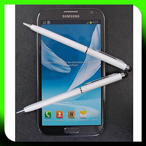 2x WEISS tomaxx Stylus Pen Eingabestift mit Kugelschreiber BlackBerry DTEK50