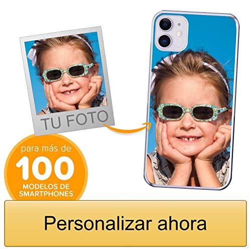 Funda Personalizada para Apple iPhone 11 con tu Foto, Imagen o Escritura - Estuche Suave de Gel TPU Transparente - Impresión
