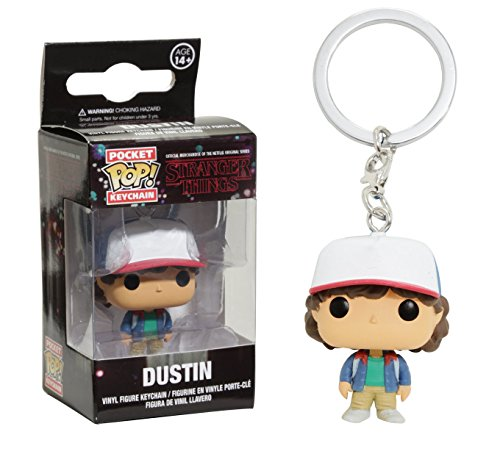 Stranger Things-Funko Pop Keychain Dustin Llavero de Vinilo,