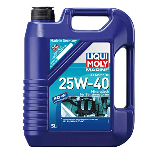 LIQUI MOLY 25027 Marine 4T Motor Oil 25W-40 5 l