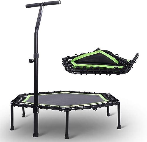 edición limitada HYYQG trampolin Cama Cama Cama Elastica, Mini trampolin Fitness Plegable Manillar Plegable Interior Exterior Entrenamiento para Niños Jumper Jardín Camping Picnic Barbacoa Juguete, verde  descuento