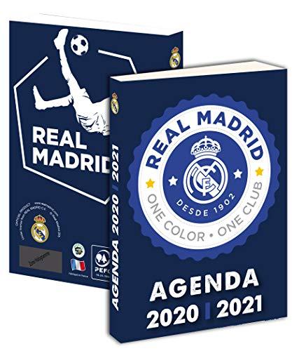 Agenda Escolar REAL MADRID 2019-2020 193RMA101JUP - 1 d�a por p�gina - Tapa blanda dura - Papel PEFC - 12 x 17 cm