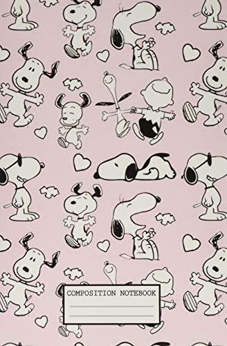 Composition Notebook: Snoopy Wide Ruled Blank Lined Themed Journal Paper 7.44 x 9.69 Inches 110 Pages