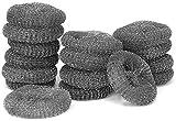 COM-FOUR® 16x pot cleaner - lana d'acciaio - spugna - lana pulente - spugna abrasiva (16 pezzi di detergente per metalli)