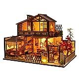 Blanket Handcraft Room Craft Kits, Mini casa de muñecas en Miniatura de Madera, Invernadero 3D con Muebles LED, Kit de Modelo de casa de muñecas DIY, para niños, Adultos, Adolescentes