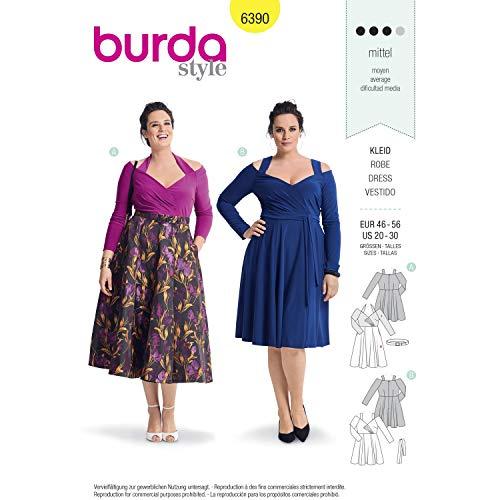 Burda 6390 Schnittmuster Robe, von 48 bis 58