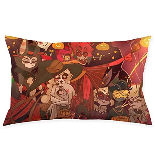 SHIZI Angel Dust Hazbin - Funda de cojín para sofá, sala de estar, dormitorio, decoración de dormitorio de 50 x 70 cm
