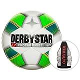 Derbystar Protagonist Light Training Football Pack Football Ball–White/Green/Yellow, 5