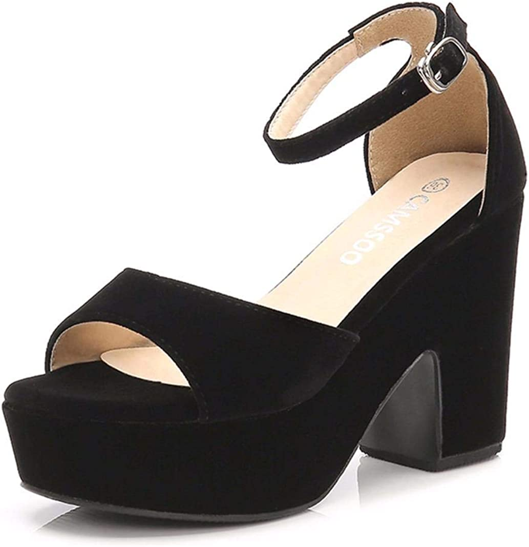 Women's Platforms Wedges Sandals Suede Open unisex Strap Fash Award-winning store toe Ankle