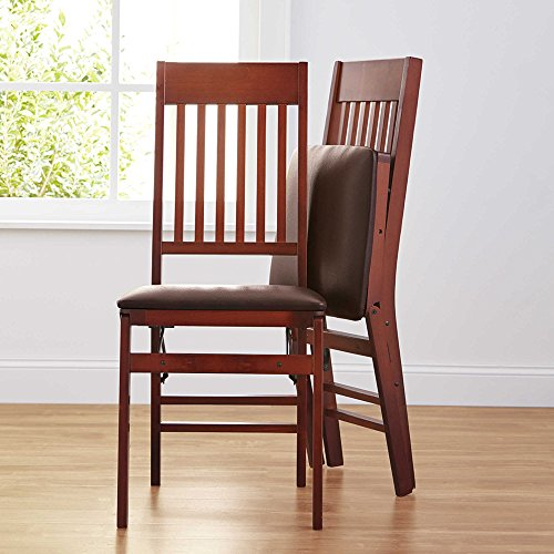 Sturdy Durable Indoor Mission Back Modern Style Wood Folding Chair