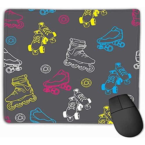 Mauspad Rollschuh Derby Prints Rechteck Gummi Mousepad 25 * 30Cm