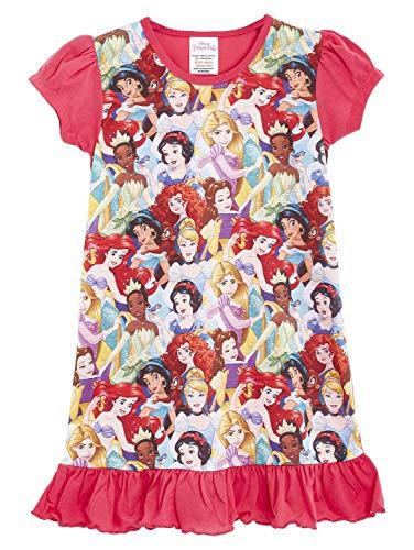 Disney Princess & Tv Character Mädchen Nachthemd Mit König Der Löwen, Aladdin, Cinderella, Paw Patrol, Little Mermaid | Kindernachtwäsche Mit Prinzessinnen (3/4 Jahre, Disney-Prinzessinnen)