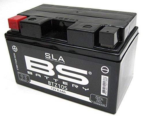 BS Battery 300636 BTZ10S AGM SLA Motorrad Batterie, Schwarz