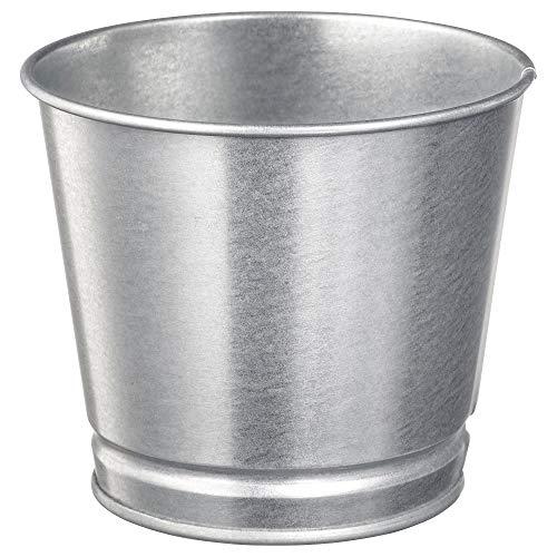 Vaso per piante zincato, dimensioni assemblate altezza: 10 cm diametro esterno: 11 cm diametro max. vaso da fiore: 9 cm diametro interno: 10 cm, materiali acciaio zincato