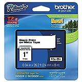 Brother TZe-251 cinta para impresora de etiquetas Negro sobre blanco - Cintas para impresoras de etiquetas (Negro sobre blanco, TZe, Térmica directa, Brother, 2,4 cm, 8 m)
