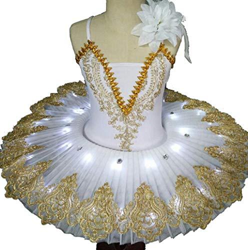 ZYLL Led Profesional del tutú del Ballet de la Bailarina de Ballet niño niños niños Muchachas del Vestido Vestido de Cisne Lago del Partido del Traje