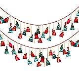 SJHFG 24 piezas bolsa colgante decoración caramelo almacenamiento bolsa de adviento calendario juguete hogar