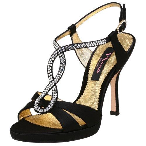 NINA Genius Damen-Sandale, Schwarz (schwarz), 42 EU