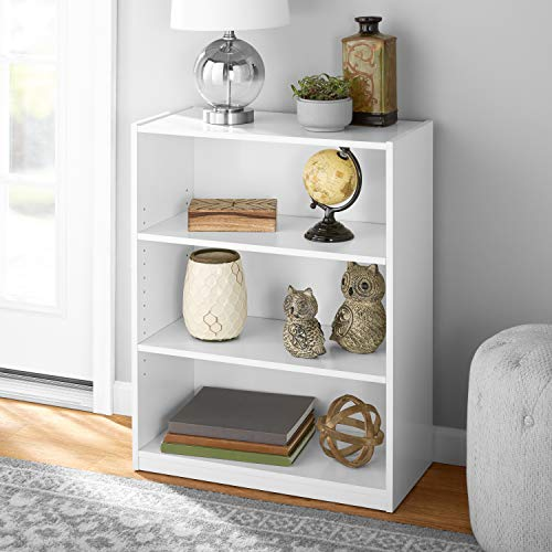 FURINNO JAYA Simply Home 5-Shelf Bookcase, 5-Tier, White