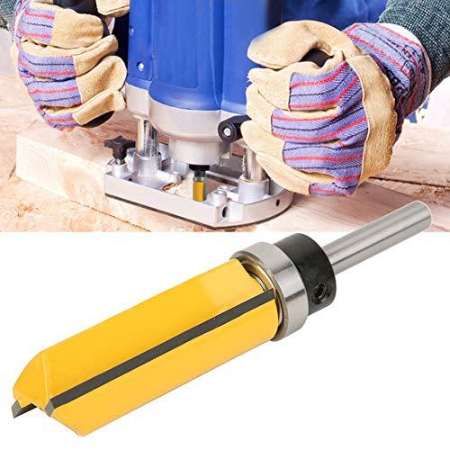 Broca de enrutador, cortador de perfilado de 1/4 de mango, cortador de ranurado, broca de corte al ras con vástago de 1/4 pulg, Cortador de fresado herramienta de carpintero, 1 / 4X3 / 4X50.8