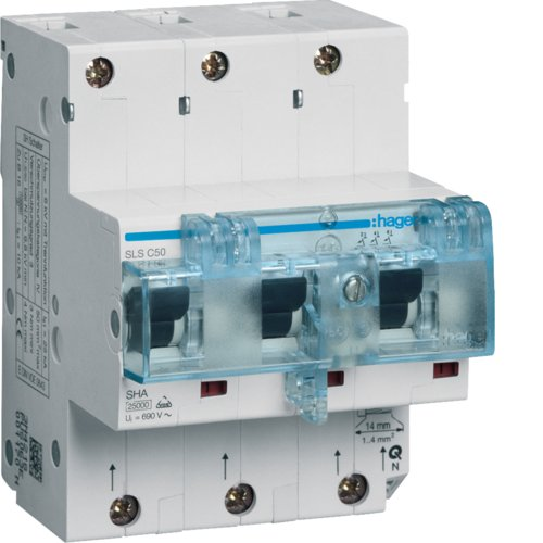 Hager HTN350C SLS-Schalter 3P Cs 50A f. Hutschiene