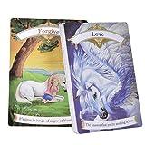 YUNDING Tarot Cards 44 Magical Unicorn Oracle Cards Juego para Uso Personal Fiesta De Juegos De Mesa Jugando Cartas Inglés Play Cards Set