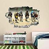 Carrera de Galgos Perros Competencia Calcomanía Wall Decals Sticker Removible Autocolante Decorativo Pegatina de Pared Decoración Dormitorio Cuarto Salón MI1052 (Gigante: 150 cm x 100 cm)