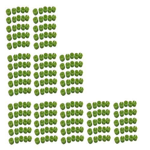 perfk 300 x storleksguide storleksringar Hanger Sizer Tags för galgar och klädstänger – grön