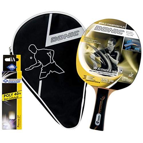 Donic-Schildkröt - Confezione regalo ping pong Waldner 500, 39,0 x 22,0 x 5,0 cm, colore: Nero/Rosso/Blu/Giallo