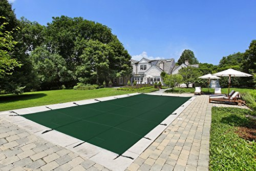 Lite Strong Inground Safety Pool Cover - Green 20'x40' Mesh - Rectangle Inground Winter Swimming Pool Cover