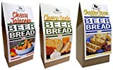 Rabbit Creek Beer Bread Mix Variety Pack of 3 – Cheesy Jalapeno, Cheddar Bacon & Cheesy Garlic...