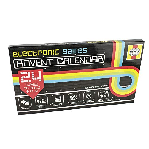 Eight Innovation HAC50127 Haynes - Calendario dell'avvento con Giochi elettronici, Colore: Nero