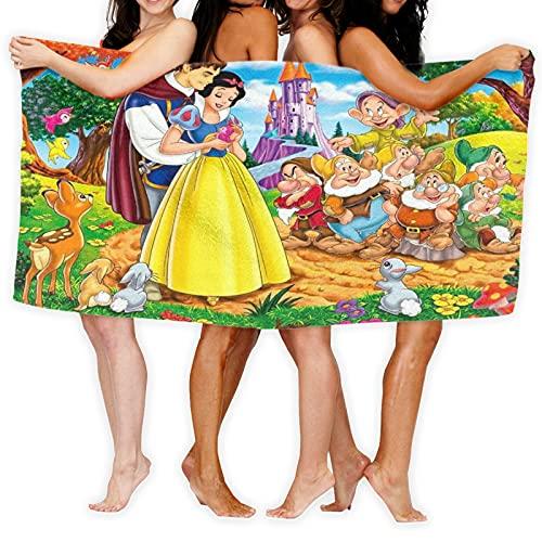 Blancanieves y los siete enanos Bambi toalla de playa portátil, suave esterilla de yoga, toalla de viaje, súper absorbente, secado rápido, toalla deportiva de moda sin arena