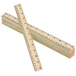 in budget affordable eBoot 12 Pack Wooden Ruler Student Ruler Wooden School Ruler Office Ruler Measurement Ruler, 2…