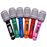 Tinksky 6pcs Inflatable Plastic Microphone 33CM...