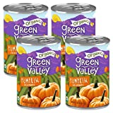 Green Valley Organics Pumpkin | Certified Organic | 100% Dickinson Variety | Sweet Earthy Delicious | Firm & Smooth | Vibrant Autumn Orange | American Grown & Made | 15 oz (Pack of 4)