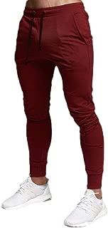 MogogoMen Pockets Cotton Sweatpant Slim Fit Elastic Waist Jogger Pant