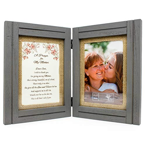 Best Gifts for Mom from Daughter or Son - 'A Prayer for My Mother' Poem - 5 x 7 Picture Frames - Birthday, Mothers Day, Mother of the Bride or Groom, Christmas, Valentines Day - Wood Wall Art or Table Decor