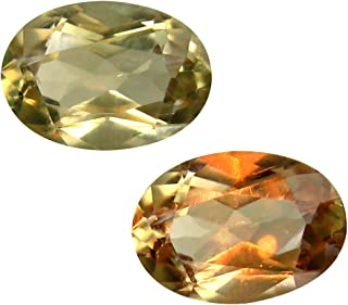 Deluxe Gems 2.12 ct Oval Cut (10 x 7 mm) Unheated/Untreated Turkish Color Change Diaspore Natural Loose Gemstone