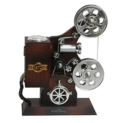 Sidiou Group Creativa clásica película de cine proyector modelo de caja de música mecánica encantadora caja de música romántica caja de música caja de música retro
