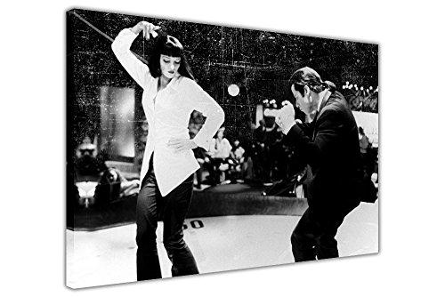 """Poster del film Pulp Fiction, scena del ballo, stampa artistica su tela con cornice da parete, poster personalizzabili, Tela, 08- A0 - 40"""" X 30"""" (101CM X 76CM)"""