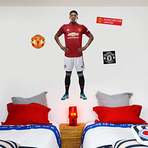 Beautiful Game Ltd Manchester United Football Club Official Anthony Autocollant Mural avec Logo Man Utd Life Size