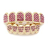 YBZS Explosion Models Hip Hops Gold-Plated Diamonds <span class='highlight'>Grillz</span> Gold Plated Hiphop Jewelry Halloween <span class='highlight'>Teeth</span> Grills Props,2